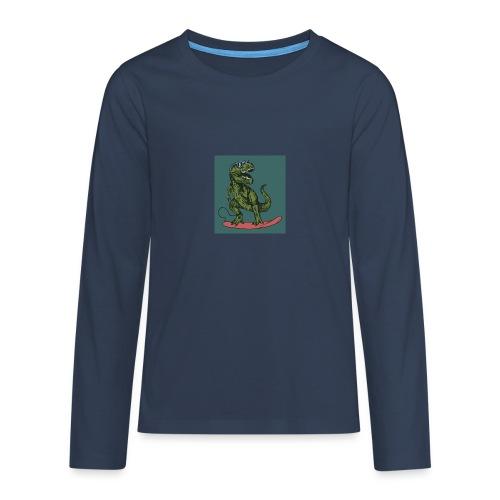 T-rex qui fait du surf - T-shirt manches longues Premium Ado