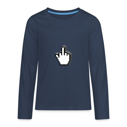 Middle_Finger_Design - Teenagers' Premium Longsleeve Shirt