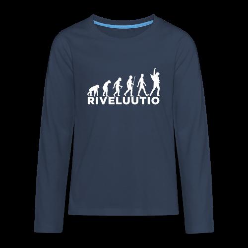 Riveluutio - Teinien premium pitkähihainen t-paita
