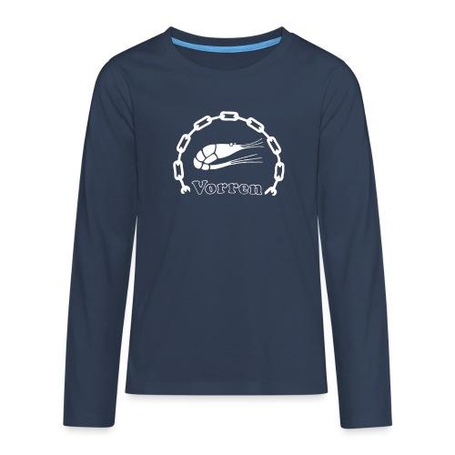 Vorren Logo CLASSIC [White] - Långärmad premium T-shirt tonåring