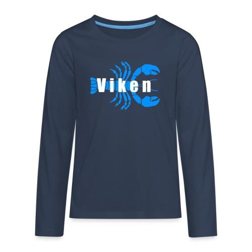 Vorren Logo HUMMERSÄSONG (Blå/Vit) - Långärmad premium T-shirt tonåring