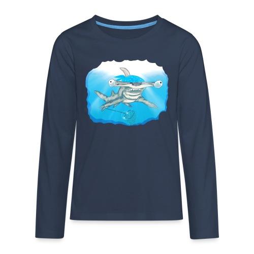 Hunting hammer fish design print - Teenagers' Premium Longsleeve Shirt