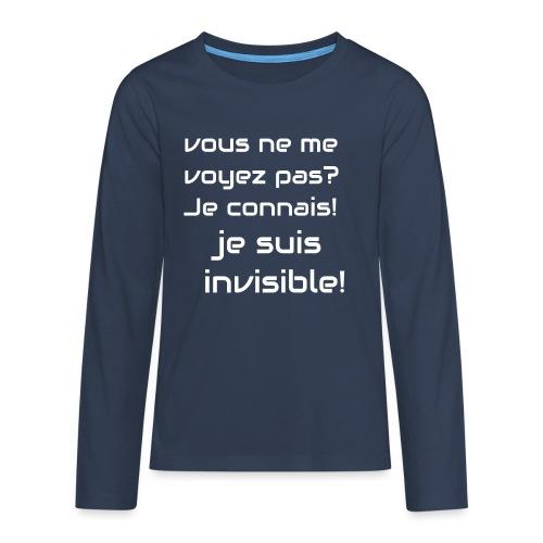 Invisibile #invisibile - Maglietta Premium a manica lunga per teenager