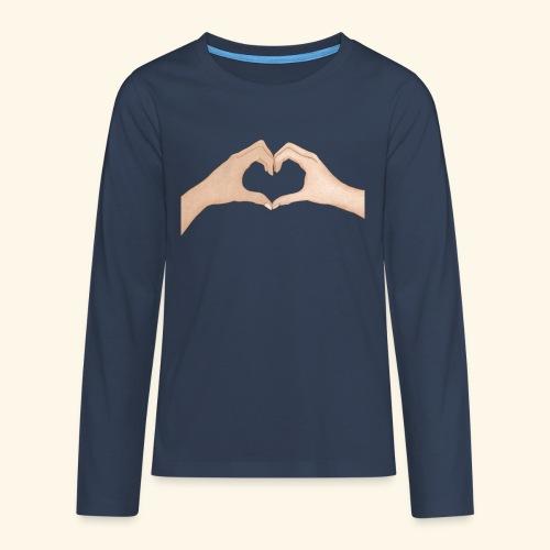 Mains Coeur Amour - Love hands - T-shirt manches longues Premium Ado
