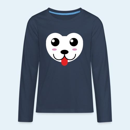 Husky perro bebé (baby husky dog) - Camiseta de manga larga premium adolescente