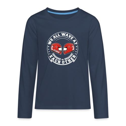 WE ALL WAVE - BLANC - T-shirt manches longues Premium Ado