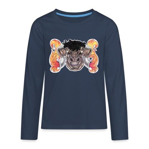 Taurus The Bull God - Teenagers' Premium Longsleeve Shirt