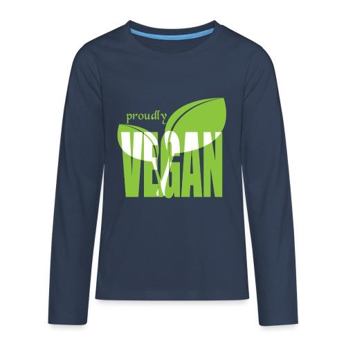 proudly vegan - Teenager Premium Langarmshirt