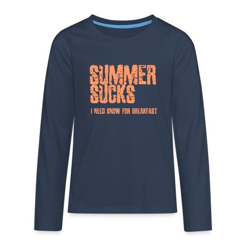 SUMMER SUCKS - Teenager Premium shirt met lange mouwen