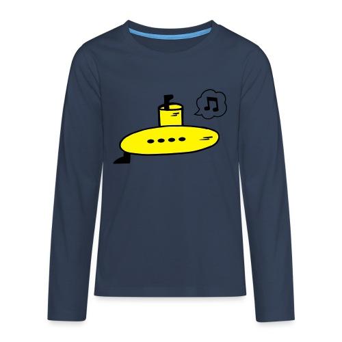 Singing Yellow Submarine - Teenagers' Premium Longsleeve Shirt