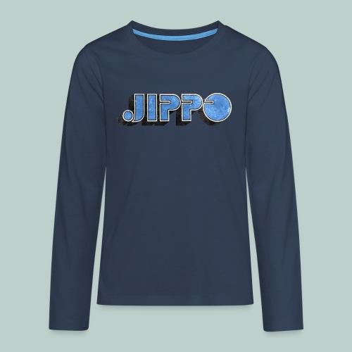 JIPPO LOGO (blue) - Teinien premium pitkähihainen t-paita
