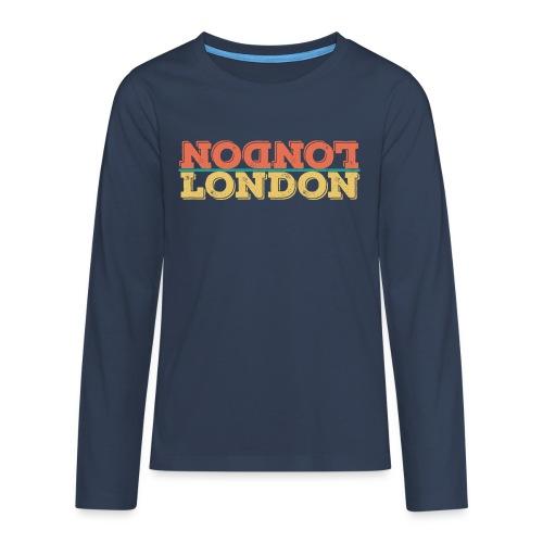 Vintage London Souvenir - Retro Upside Down London - Teenager Premium Langarmshirt