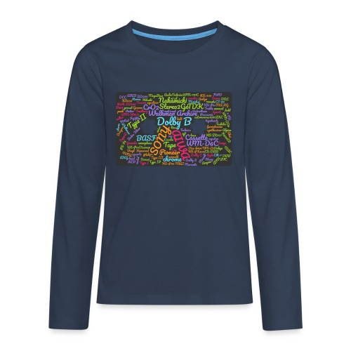 wordcloud Cassettes- WA - Teenagers' Premium Longsleeve Shirt