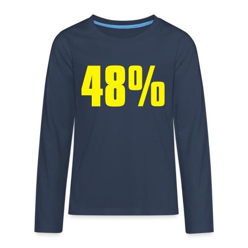 48% - Teenagers' Premium Longsleeve Shirt