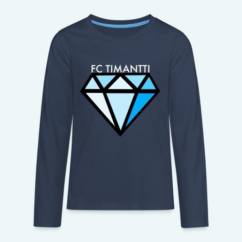 FCTimantti logo valkteksti futura - Teinien premium pitkähihainen t-paita