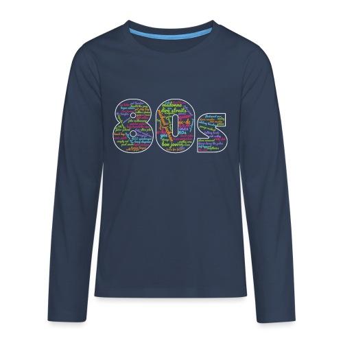 Cloud words 80s - Teenagers' Premium Longsleeve Shirt