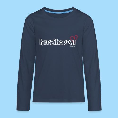 Herziboppal - Teenager Premium Langarmshirt