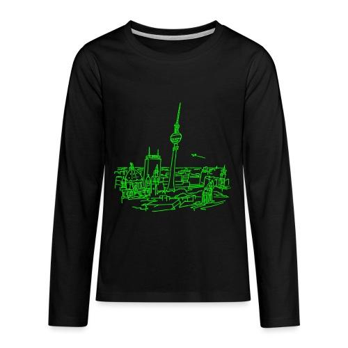 Berlin Panorama - Koszulka Premium z długim rękawem dla nastolatków