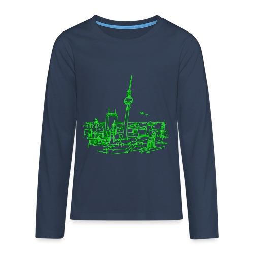 Le panorama de Berlin - T-shirt manches longues Premium Ado