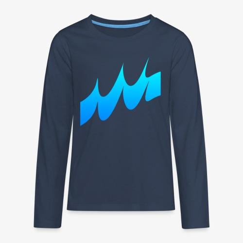 Ocean Waves or just Deep - Teenagers' Premium Longsleeve Shirt