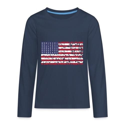 AVM WWII Trashed 48 star flag in color D'Day - Teenager Premium shirt met lange mouwen