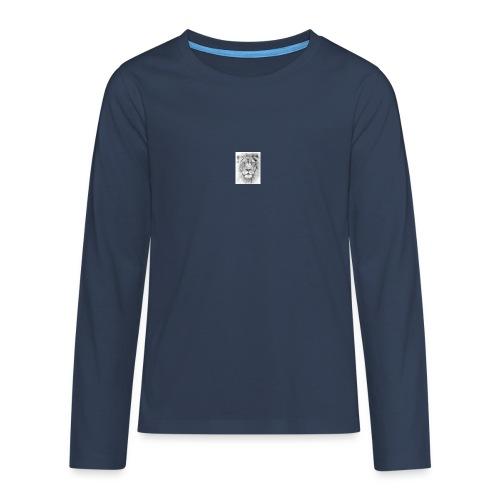 lion sketched png - Teenagers' Premium Longsleeve Shirt
