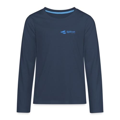 Sjölivet podcast - Svart logotyp - Långärmad premium T-shirt tonåring