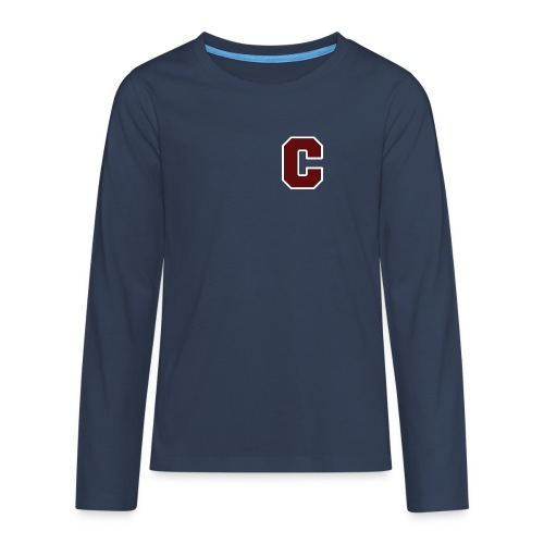 Initial Letter C - Teenagers' Premium Longsleeve Shirt