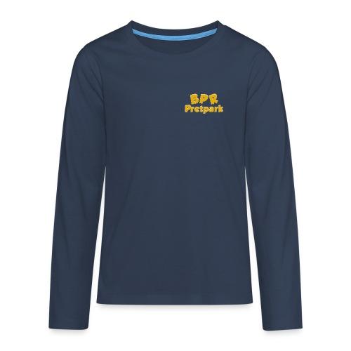 BPR Pretpark borstlogo - Teenager Premium shirt met lange mouwen