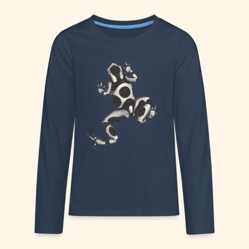 Svartvit groda - Långärmad premium T-shirt tonåring