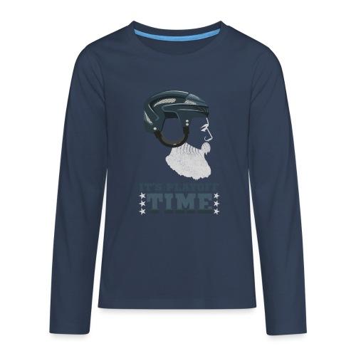 Lustiges Cooles Eishockey Geschenk Eishockeyspiele - Teenager Premium Langarmshirt
