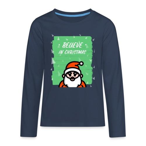 Believe in Christmas - Premium langermet T-skjorte for tenåringer