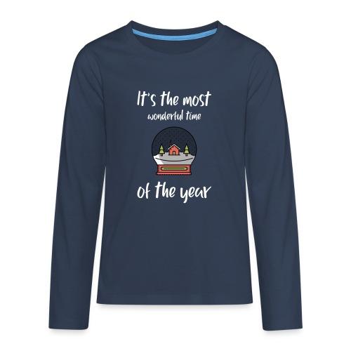 It's the most wonderful time of the year - Premium langermet T-skjorte for tenåringer