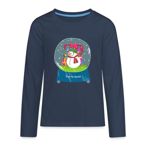 Let it snow - Premium langermet T-skjorte for tenåringer