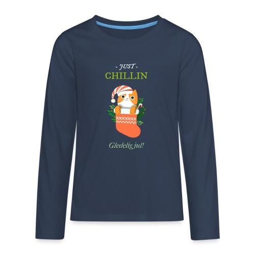Just chillin - Gledelig jul - Premium langermet T-skjorte for tenåringer