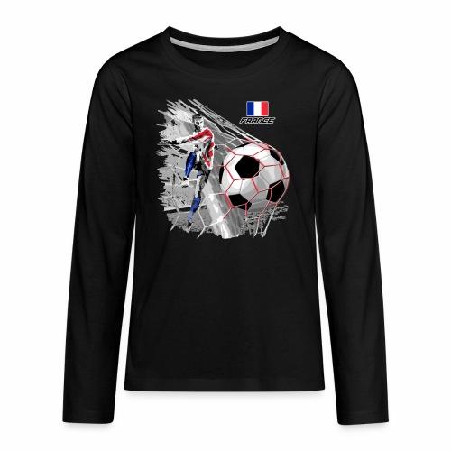 FP22F 03 FRANCE FOOTBALL - Teinien premium pitkähihainen t-paita