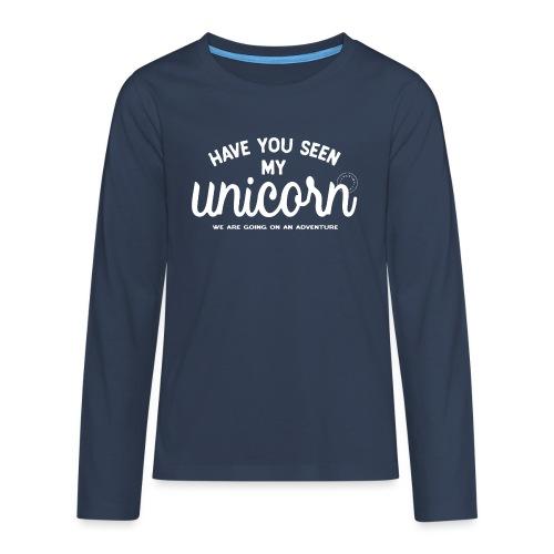 Unicorn white - Teenagers' Premium Longsleeve Shirt