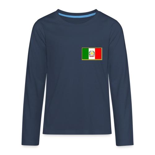 Bandiera Italiana - Maglietta Premium a manica lunga per teenager