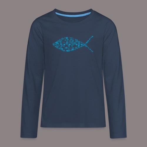 ichthys petrol - Teenager Premium Langarmshirt