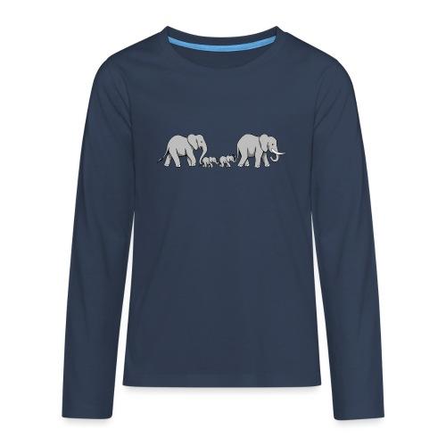 Elefanten Familie II - Teenager Premium Langarmshirt