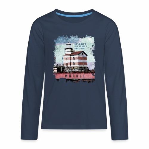 Märket majakkatuotteet, Finland Lighthouse, väri - Teinien premium pitkähihainen t-paita