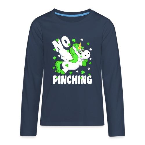St. Patricks Day No Pinching Unicorn - Teenager Premium Langarmshirt