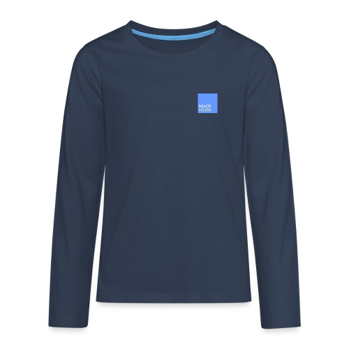 Blue Summer Logo - Teenagers' Premium Longsleeve Shirt