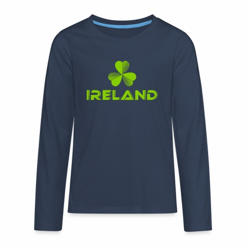 Supporting Ireland Shamrock - Teenagers' Premium Longsleeve Shirt