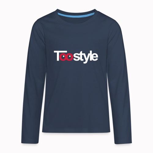 Toostyle white - Maglietta Premium a manica lunga per teenager