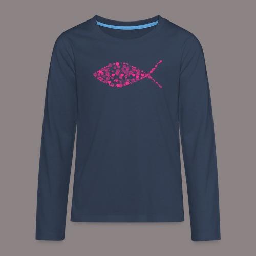 Ichthys (Erdbeer) - Teenager Premium Langarmshirt