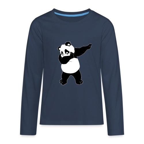 Dabbing Panda Bär - Teenager Premium Langarmshirt
