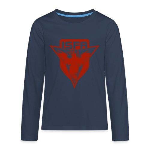 isfa logo 1c rot - Teenager Premium Langarmshirt