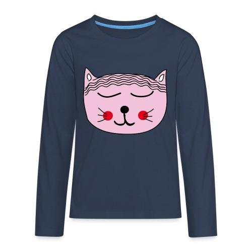 Katze Miau - Teenager Premium Langarmshirt