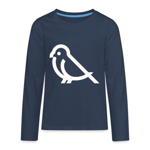 bird weiss - Teenager Premium Langarmshirt